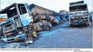 Beryl TV tanker-320x180 Two die, 13 vehicles burnt in tanker explosion on Lagos-Ibadan Expressway News Nigeria Daily Entertainment News | Top headlines | Celebrity News and lifestyle - Beryl Tv